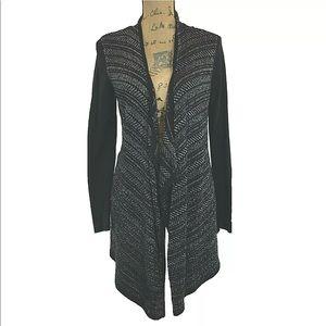 White House Black Market Cardigan Sweater S Silver